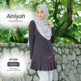 Ainiyah Pleated Blouse AT1034 (DarkGrey)