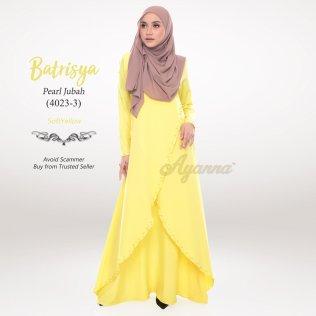 Batrisya Pearl Jubah 4023-3 (SoftYellow)