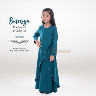 Batrisya Pearl Jubah 4023A-3 (TealGreen)