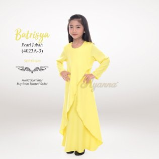 Batrisya Pearl Jubah 4023A-3 (SoftYellow)