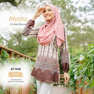 Mysha Printed Blouse AT1048 (Cream)