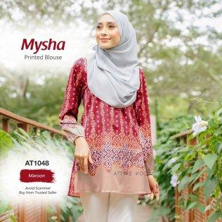 Mysha Printed Blouse AT1048 (Maroon)