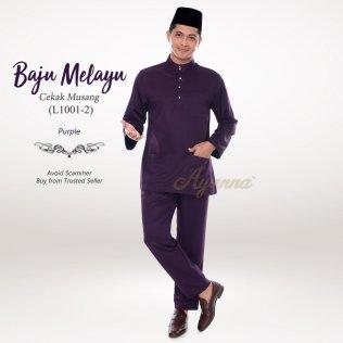 Baju Melayu Cekak Musang L1001-2 (Purple)