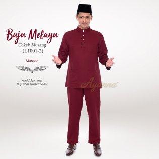 Baju Melayu Cekak Musang L1001-2 (Maroon)