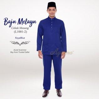 Baju Melayu Cekak Musang L1001-2 (RoyalBlue)