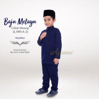 Baju Melayu Cekak Musang L1001A-2 (NavyBlue)