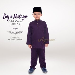 Baju Melayu Cekak Musang L1001A-2 (Purple)