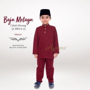 Baju Melayu Cekak Musang L1001A-2 (Maroon)