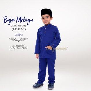 Baju Melayu Cekak Musang L1001A-2 (RoyalBlue)