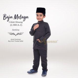 Baju Melayu Cekak Musang L1001A-2 (DarkGrey)