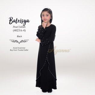 Batrisya Pearl Jubah 4023A-4 (Black)