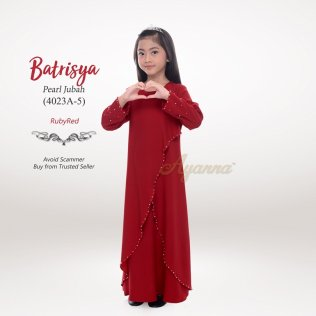 Batrisya Pearl Jubah 4023A-5 (RubyRed)