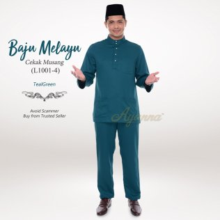 Baju Melayu Cekak Musang L1001-4 (TealGreen)