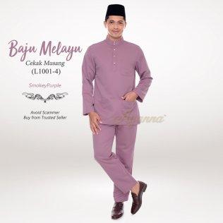 Baju Melayu Cekak Musang L1001-4 (SmokeyPurple)