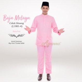 Baju Melayu Cekak Musang L1001-4 (BabyPink)