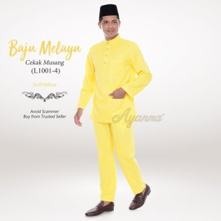 Baju Melayu Cekak Musang L1001-4 (SoftYellow)
