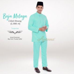 Baju Melayu Cekak Musang L1001-4 (Turquoise)
