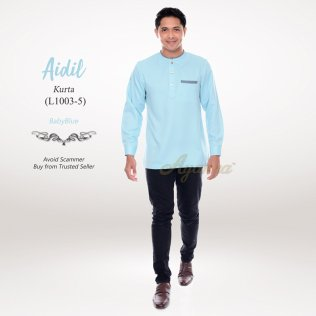 Aidil Kurta L1003-5 (BabyBlue)