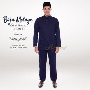 Baju Melayu Cekak Musang L1001-5 (DarkBlue)