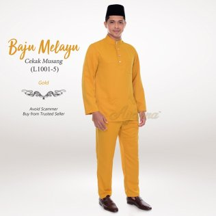 Baju Melayu Cekak Musang L1001-5 (Gold)