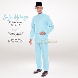 Baju Melayu Cekak Musang L1001-5 (BabyBlue)