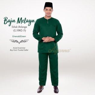 Baju Melayu Teluk Belanga L1002-5 (EmeraldGreen)