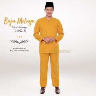 Baju Melayu Teluk Belanga L1002-5 (Gold)
