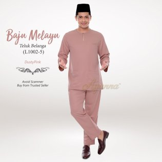 Baju Melayu Teluk Belanga L1002-5 (DustyPink)