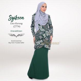 Syikeen Lace Kurung 2774 (EmeraldGreen)