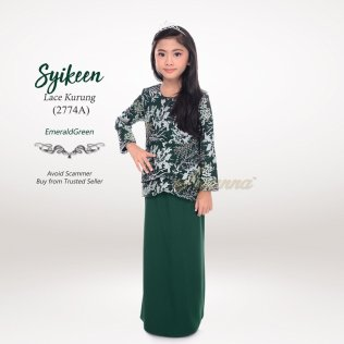 Syikeen Lace Kurung 2774A (EmeraldGreen)