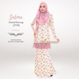 Salma Printed Kurung 2739 (PinkPeach)