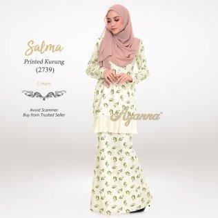 Salma Printed Kurung 2739 (Cream)