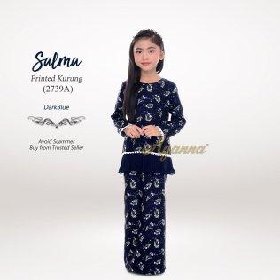 Salma Printed Kurung 2739A (DarkBlue)