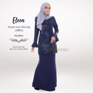 Eleen Sequin Lace Kurung 4001 (NavyBlue)