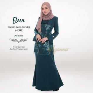 Eleen Sequin Lace Kurung 4001 (Indicolite)