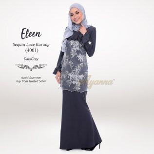 Eleen Sequin Lace Kurung 4001 (DarkGrey)