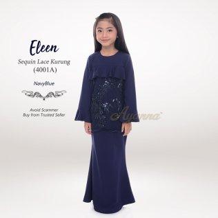 Eleen Sequin Lace Kurung 4001A (NavyBlue)