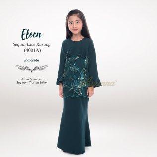 Eleen Sequin Lace Kurung 4001A (Indicolite)