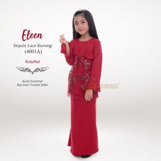 Eleen Sequin Lace Kurung 4001A (RubyRed)