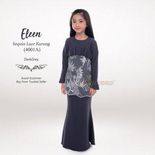 Eleen Sequin Lace Kurung 4001A (DarkGrey)