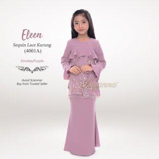 Eleen Sequin Lace Kurung 4001A (SmokeyPurple)