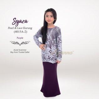 Syaza Pearl & Lace Kurung 4015A-2 (Purple)