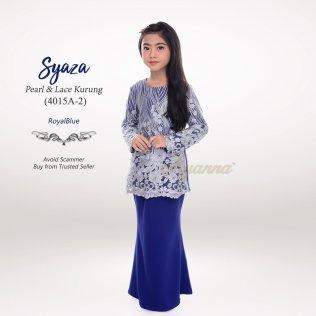 Syaza Pearl & Lace Kurung 4015A-2 (RoyalBlue)