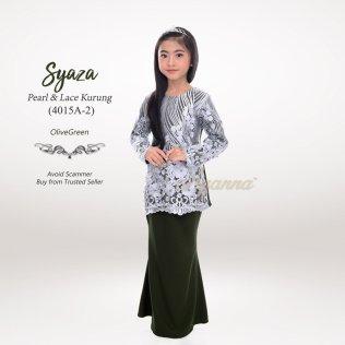 Syaza Pearl & Lace Kurung 4015A-2 (OliveGreen)