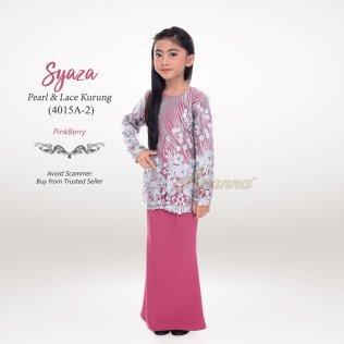 Syaza Pearl & Lace Kurung 4015A-2 (PinkBerry)