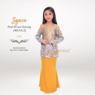 Syaza Pearl & Lace Kurung 4015A-2 (Gold)