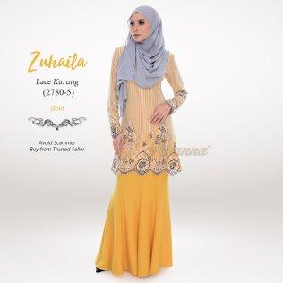 Zuhaila Lace Kurung 2780-5 (Gold)