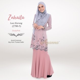 Zuhaila Lace Kurung 2780-5 (DustyPink)