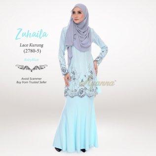 Zuhaila Lace Kurung 2780-5 (BabyBlue)