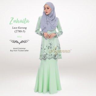 Zuhaila Lace Kurung 2780-5 (Mint)